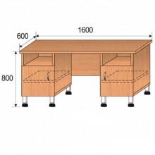 Стол лабораторный, 1600x600x800мм, ФСЛ01
