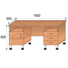 Стол лабораторный, 1600x600x800мм, ФСЛ02