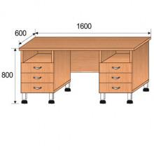 Стол лабораторный, 1600x600x800мм, ФСЛ03
