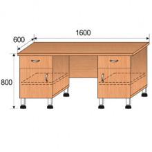 Стол лабораторный, 1600x600x800мм, ФСЛ04