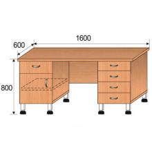Стол лабораторный, 1600x600x800мм, ФСЛ05