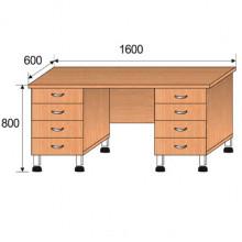 Стол лабораторный, 1600x600x800мм, ФСЛ06