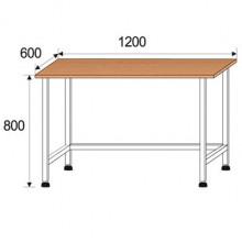 Стол лабораторный, 1200x600x800мм, ФСЛ07