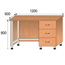 Стол лабораторный, 1200x600x800мм, ФСЛ09