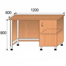Стол лабораторный, 1200x600x800мм, ФСЛ10