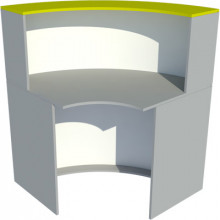 Радиусный модуль – ресепшн, 900x900x1200мм, ФРС06