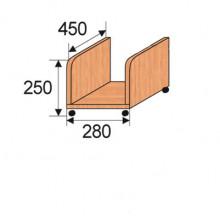 Тележка под системный блок, 280x450x250мм, ФСБ01