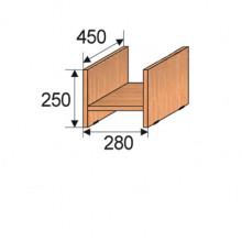 Подставка под системный блок, 280x450x250мм, ФСБ02