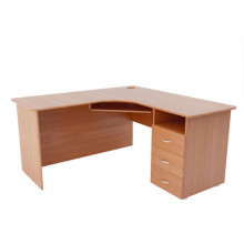 Компьютерный стол угловой, (1500+1500)х600х750 мм, ФСКУ02