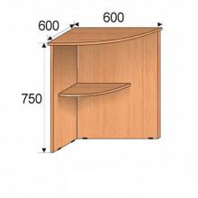Секция приставная угловая, 600х600х750мм, ФПР03