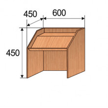 Трибуна настольная, 600x450x450мм, ФТР01
