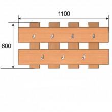 Вешалка настенная, 1100x600x32мм, ФВН02