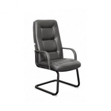 Конференц-стул низкий Идра ПЛ/St/О, кож/зам Z-01