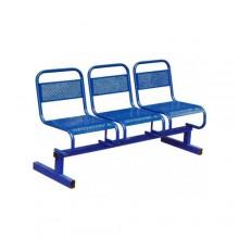 Секция стульев перфорированная 3-х местная, 149x53x82 см, М112-03
