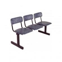 Секция стульев 3-х местная, 139x55x80 см, М113-03