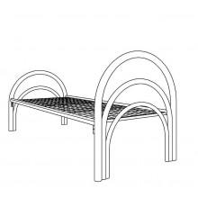 Кровать металлическая одноярусная, КВ 1.2-01
