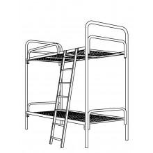 Кровать металлическая двухъярусная, 9.2.1