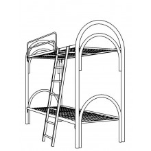 Кровать металлическая двухъярусная, КВ 2.3