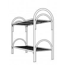 Кровать металлическая двухъярусная, КВ 3.1