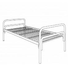 Кровать металлическая одноярусная, КВ 1.1-01
