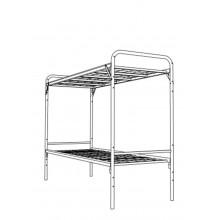 Кровать металлическая двухъярусная, КВ 2.1С