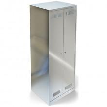 Стеллаж для одежды из н.с. AISI 304, NNNx500x1750мм, ВСТК-160