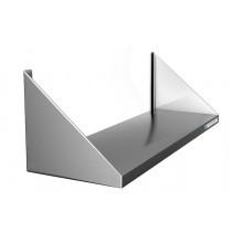 Полка настенная сплошная узкая, сталь AISI 304, ВПН-113