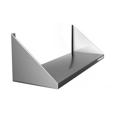 Полка настенная сплошная широкая, сталь AISI 304, ВПН-114