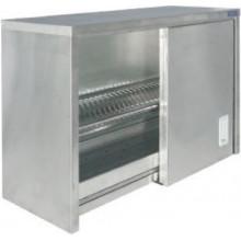 Полка-шкаф настенная для сушки посуды закрытая, сталь AISI 304, ВПН-322