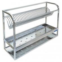 Полка настенная для сушки посуды, сталь AISI 304, ВПН-328Б