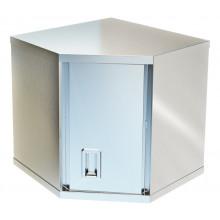 Полка-шкаф настенная угловая, сталь AISI 304, ВПН-122У