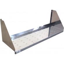 Полка настенная перфорированная узкая, сталь AISI 304, ВПН-613