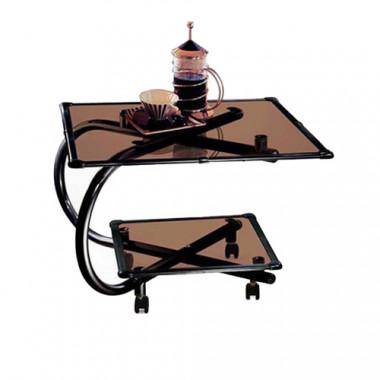 Журнальный стол на колесах, 61,5x61,5x47 см, Дельта-4