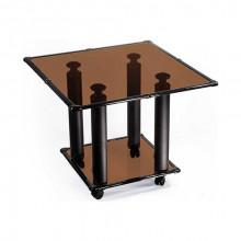Журнальный стол на колесах, 61,5x61,5x52 см, Квадро-1