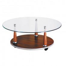 Журнальный стол на колесах, d=70x36,5 см, Премьер-4