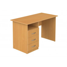 Стол офисный с тумбой, 140x60x75 см, ЛТ ПСО6-14 L/R