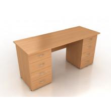 Стол двухтумбовый, 150x60x75 см, СД6-15