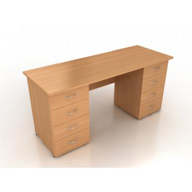 Стол двухтумбовый, 160x70x75 см, СД7-16
