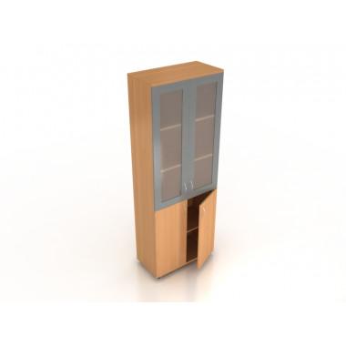 Шкаф со стеклом в МДФ, 72x37x196 см, ПШ-02/2