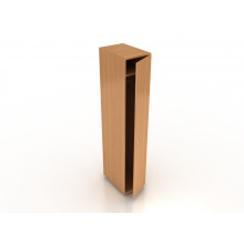 Шкаф гардеробный узкий со штангой, 35x55x183 см, ПЛТ Ш-07У+ ПЛТ ДШ-04/07У L/R