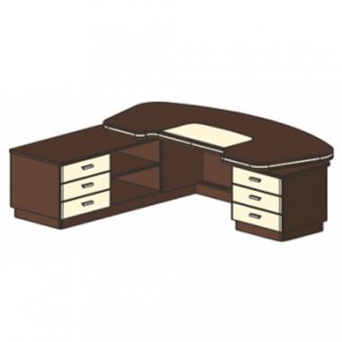 Стол письменный, 210x210/105x78 см, И321 Л/П