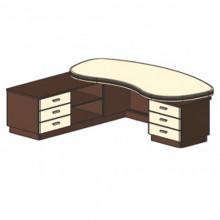 Стол письменный, 250x223,8/120x78 см, И331 Л/П