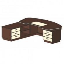 Стол письменный, 250x223,8/120x78 см, И341 Л/П