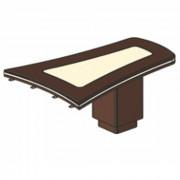Стол приставной (брифинг), 167,4/160x119,6x78 см, И381