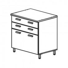 Модуль кухни нижний с ящиками, 80,4x60x85 см, Ф10Т/М1