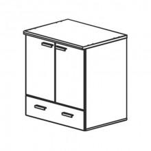 Модуль кухни нижний для холодильника, 80,4x60x85 см, Ф10Т/М2