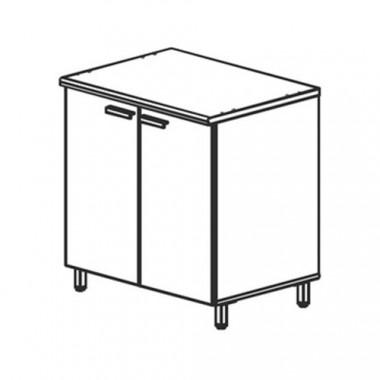 Модуль кухни нижний для мойки, 80,4x60x85 см, Ф10Т/М3