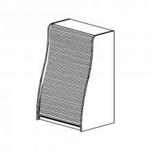 Модуль кухни с роллетой для посуды, 80x58x120 см, Ф11/М2
