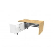 Стол письменный, 160x180x74 см, П34ДМЛ/П бл