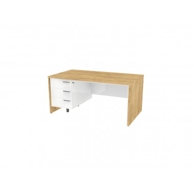 Стол письменный, 160x90x74 см, П34КЛ/П бл
